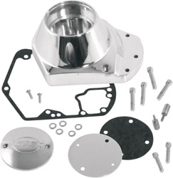 Sands Cycle Polished Cam Chest Cover Kit For 72-92 Harley Dyna Touring Softail Fxe