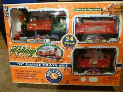 Lionel Holiday Train G Christmas Battery Set 62060 14' Track 2000 Musical Euc