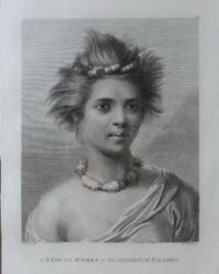 1784 First Edition Cookandrsquos Voyages John Webber Etching Andlsquoa Young Woman Of The San