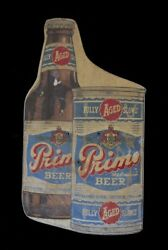 Rare 1950s Primo Beer Bus Stop Sign