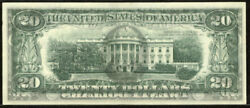 1977 20 Federal Reserve Note-philadelphia Error Front To The Back Printing