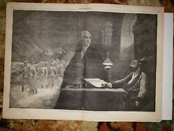 George Washington Valley Forge The Dream Of A Secessionist 1861 Hw Sketch Print