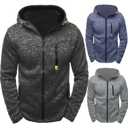 Men's Winter Slim Fit Warm Hoodie Hooded Sweatshirt Sweater Coat Jacket Outwear
