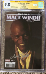 Mace Windu 1 Photo Cover Variant__cgc 9.8 Ss__signed By Samuel L Jackson