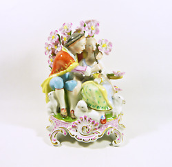 Herend Rococo Style Lover Couple 7.2 Handpainted Porcelain Figurine P141