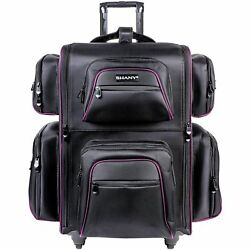Shany Total Jetsetter Travel Makeup Bag with Multiple Compartments Black