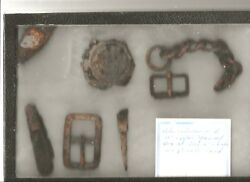 Riker Box Of Dug Relics From 2nd Winchester Battlefield By Dr W Cullun Sherwood