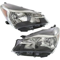 Headlight Set For 2015 2016 2017 Toyota Yaris Left And Right With Bulb 2pc
