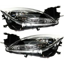 Headlight Set For 2012-2013 Mazda 6 S Gt Gs I Models Left And Right Capa 2pc