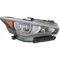 Headlight For 2014 2015 2016 2017 Infiniti Q50 Right Led With Bulb