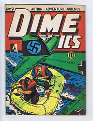 Dime Comics 19 Bell Features Pub. Canadian Edition Missing Panel