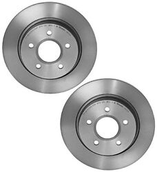 For Ford Pair Set of 2 Rear Brake Disc Rotors Solid 271x11mm UV Coated 5 Lugs