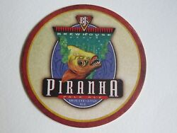 Beer Coaster Bj's Brewhouse Piranha Pale Ale National Brewery Chain Fish