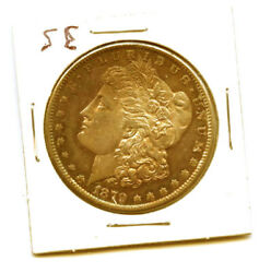 1879-s 1- Unique Rare Red And Rainbow Toning Morgan Silver Dollar