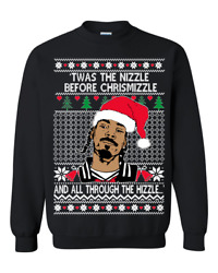 SnoopDog Fo Shizzle Dizzle  Snoop Dog Ugly Christmas Sweater  Funny Gift