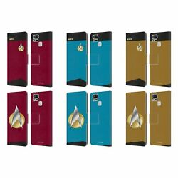 Star Trek Uniforms And Badges Tng Leather Book Case For Asus Zenfone Phones