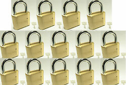 Master Lock Solid Brass 175 Lot 14 Set To Your Own Combination Padlock