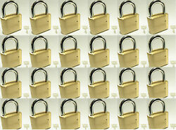 Master Lock Solid Brass 175 Lot 24 Set To Your Own Combination Padlock