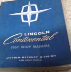 1967 FORD LINCOLN CONTINENTAL Maintenance Service Repair Shop Manual NEW 1967