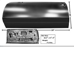 Chevychevrolet Monte Carlo Door Shell Driver Side Left 1986-1988