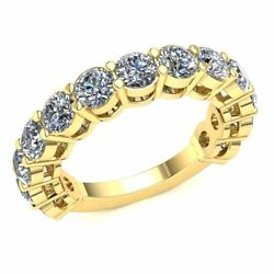 Real 3.75 Ct Round Diamond Ladies Basket Eternity Ring With Sizing Bar 14k Gold