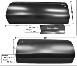 Chevychevrolet Monte Carlo Door Skin Set Left And Right 1986-1988