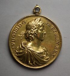 Louis Xiv By Varin Gilded Bronze Medal