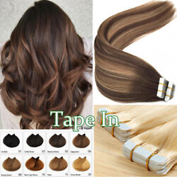 Grade 8a Best Tape Glue In Stick 100 Human Remy Hair Extension Skin Thick 60pcs