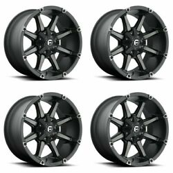 Set 4 20 Fuel Coupler D556 Black Machined Wheels 20x9 8x170 20mm For Ford Truck