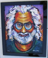 Jerry Garcia By Grace Slick, Giclee On Canvas, 2001