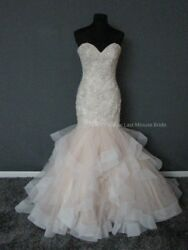 Allure Bridal Wedding Dress Size 16 Champagne With Veil Brand New Free Shipping