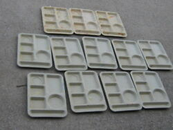 12 Pcs Vintage Used Texas Ware Tray 10 X 13.5 Lunch Tray Cafeteria Buffet