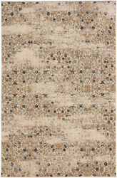 Karastan White Transitional Casual Distressed Bulbs Area Rug Floral 90944 60125