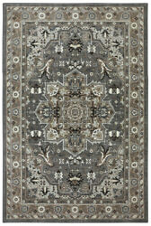 Karastan Multi-Color Transitional Casual Bulbs Dots Area Rug Bordered 90272 5913