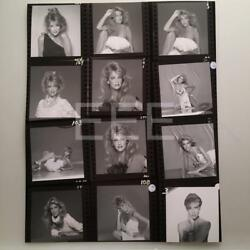 Heather Locklear Contact Sheet Photographer H Langdon Embossed Stamp Photo 43L
