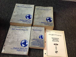 2001 Ford Explorer Sport Trac Service Shop Repair Manual Set W EWD Specs + TSB