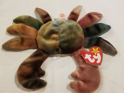 Rare Claude The Crab 1996 Retired Ty Beanie Baby. Tags Intact W/errors
