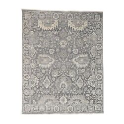 8and0391and039and039x10and0391and039and039 Silk With Textured Wool Hand Knotted Oushak Influence Rug R38723