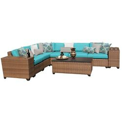 Laguna 9 Piece Outdoor Wicker Patio Furniture Set 09b