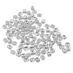 100X Crystal Loose Clear Rhinestones Beads Jewelry Findings 8mm 10mm