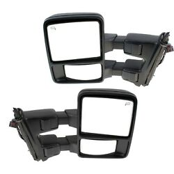 Kool Vue Mirror Set For 2010 Ford F-250 SD With Signal Light Textured Black 2Pc