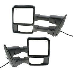 Tow Mirror Set For 2008 2009 Ford F250 Super Duty Left And Right Power Fold Heat
