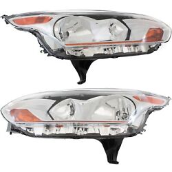 Headlight For 2014-2017 Ford Transit Connect Pair Driver And Passenger Side Capa