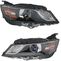 Headlight Set For 2014 Chevrolet Impala Left And Right With Bulb Capa 2pc