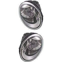 Headlight Set For 2012-2018 Volkswagen Beetle Left And Right With Bulb 2pc