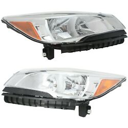 Headlight Set For 2013-2016 Ford Escape Left And Right Upper With Bulb Capa 2pc