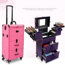 Women large capacity Trolley Cosmetic case Rolling Luggage bagNails Makeup Tool