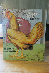Knickerbocker's Mother Hen Target chicken toy advertising use as a old vtg sign
