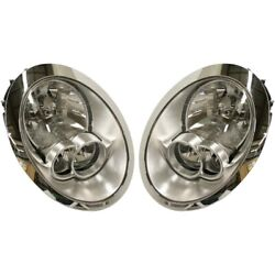 Headlight Set For 2005-2008 Mini Cooper Left And Right With Bulb 2pc