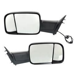 Tow Mirror Set For 2013 2018 Ram 1500 Left And Right Side Manual Fold Extendable